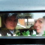 b.Mr and Mrs Wadham in Rolls Royce 20 at Church of St